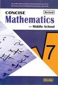 mathematics class 7 icse cisce topics