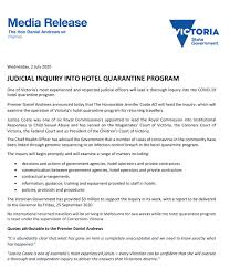 inquiry into hotel quarantine ...