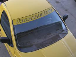 Windshield Banner Fits Dodge Ram Rumble Bee Daytona Tfb Designs