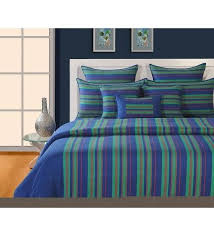 green striped bedding