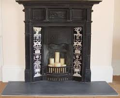 fireplace black and white urn design