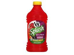 v8 splash berry blend nutrition facts
