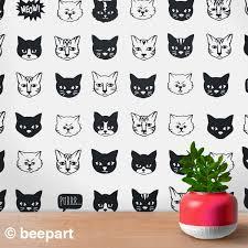 Cat Pattern Wall Decal Set Cat Wall Decal Cat Stickers Cat Lover Gift Nursery Decor Girls Room Decor Animal Art Cute Kitty Art