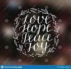 hand lettering inspirational holiday quotes love hope peace