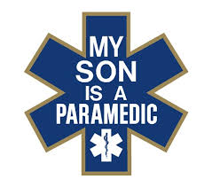 Decal 4 Star Of Life My Son Is A Paramedic Reflective Window Decal Paramedic Emt 1st Responders
