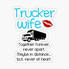 Trucker Wife Stickers Redbubble