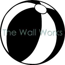 Beach Ball Wall Sticker Vinyl Decal The Wall Works