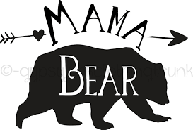 Mama Bear Car Decal Mama Bear Window Decal Mama Bear Decal Bear Decal Bear Print Matching Decals Family Mama Bear Decal Bear Decal Bear Silhouette