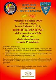 Inaugurazione Lecce Club a Galatone. Ecco quando - Notizie sull ...