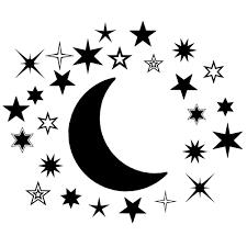 Harriet Bee Barnsdall Moon And Stars Nursery Wall Decal Set Of 27 Wayfair