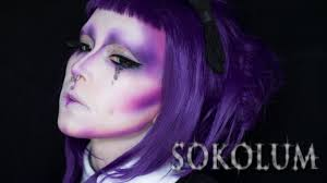 violet alien makeup tutorial you