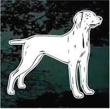 Weimaraner Dog Profile Decals Car Window Stickers Decal Junky