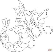 Pokemon Gyarados Coloring Pages