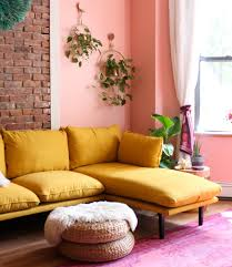 Ready To Go Bold In Your Living Room Here S The Bright Yellow Sofa Of Your Dreams Tfdiaries By Megan Zietz