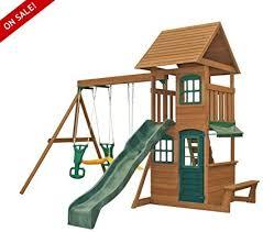 skroutz wooden swing sets cedar