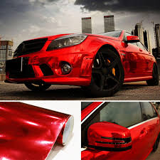 Red Car Vinyl Film Wrap Color Change Car Body Sticker Decal Sheet Film 152 50cm Car Body Stickers And Decals Aliexpress