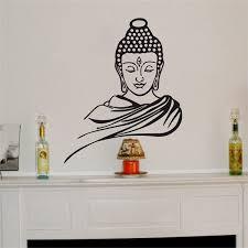 Buddha Wall Stickers Vinyl Decal Religion Buddhism Faith Meditation Decor Wish