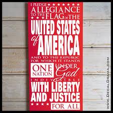 Us Pledge Of Allegiance Vinyl Wall Decal Decal Drama