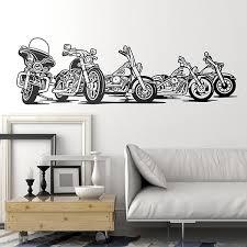 Wall Decal 5 Harley Davidson Motorbike Muraldecal Com