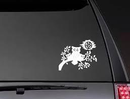 Owl Bird And Moon Stickers Window Decal Vinyl Art Pattern Art Car Body Decals Art Decor Zp0525 Car Stickers Aliexpress