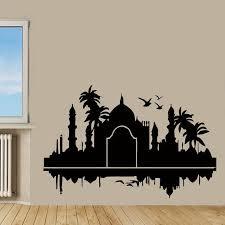 Shop Wall Decals India Design Palms Birds Home Decor Vinyl Art Wall Decor Kids Nursery Decor Sticker Decal Size 22x30 Color Black Overstock 14594429