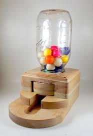 gumball dispenser wooden candy machine