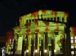 berlin, night, darkness, wall, tourism, projection