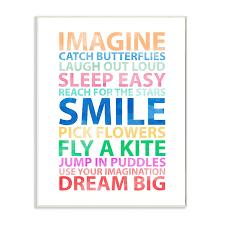 The Kids Room By Stupell Imagine Smile Dream Big Wall Plaque Art Walmart Com Walmart Com