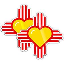 Amazon Com Zia Sticker Set New Mexico Heart Zia Symbol 4 Car Window Decal For Car Automotive