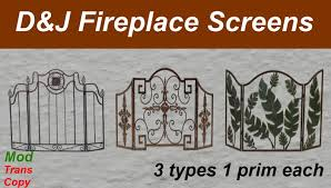 Second Life Marketplace D J Fireplace Screens Boxed