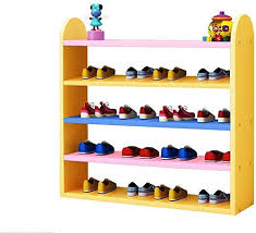 Amazon Com Zfgg Kids Shoe Rack Organizer Wooden Colorful Children Storage Stand For Door Hall Bedroom Balcony Small Space Saving Shelf 5 Tier Stackable Shoe Rack Storage Organizer Space Saving Shoe Rack Home