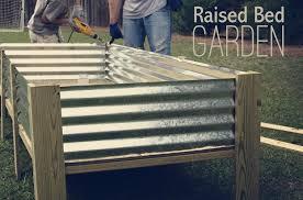 raised garden beds corrugated metal