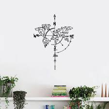 Compass World Map Wall Sticker Living Room Bedroom Wall Decoration Sticker Sale Price Reviews Gearbest