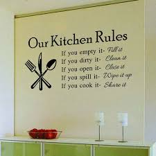 Kitchen Rules Living Room Kitchen Vinyl Wall Stickers For Kids Room Lettering Art Quote Decals Ho Wall Decor Stickers Kitchen Wall Stickers Vinyl Wall Stickers