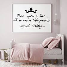 Personalized Once Upon A Time Vinyl Decor Wall Decal Customvinyldecor Com