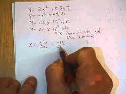 to vertex form of parabola equation