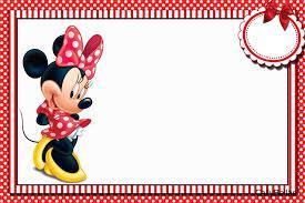 Minnie En Rayas Rojas Invitaciones E Imprimibles Gratis Para