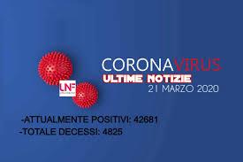 Coronavirus ultime notizie 21 marzo: 793 nuovi decessi ( 546 solo ...