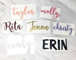 Personalized Name Vinyl Decal Diy Vinyl Stickers Tumbler Cup Etsy