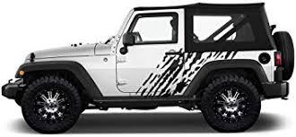 Amazon Com Factory Crafts Splash Side Graphics Kit Vinyl Decal Wrap Compatible With Jeep Wrangler 2 Door 2007 2016 Matte Black Automotive