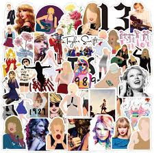 Amazon Com Music Star Taylor Swift Stickers For Water Bottle 52 Pcs Singer Sticker Waterproof Trendy Vinyl Laptop Decal Stickers Pack For Teens Computer Travel Case Computers Accessories