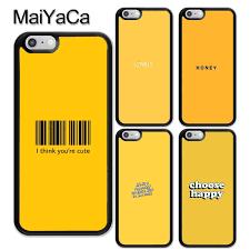 hot f maiyaca honey yellow aesthetic quotes printed tpu
