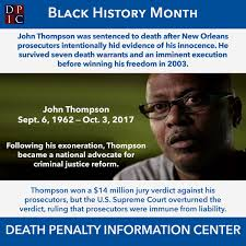 John Thompson was sentenced to death in ...