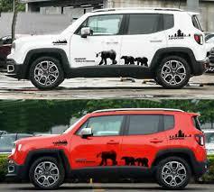 Graphics Vinyl Black Bear Sticker Bonnet Door Decal Fit Jeep Renegade Compass 57 59 Picclick