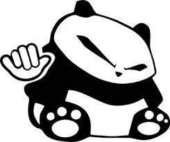 Amazon Com Hang Ten Panda Bear Japanese Jdm Vinyl Graphic Car Truck Windows Decal Sticker Die Cut Vinyl Decal For Windows Cars Trucks Tool Boxes Laptops Macbook Virtually Any Hard Smooth