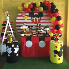 Fiesta De Mickey Mouse Como Decorar Una Fiesta De Mickey Mouse