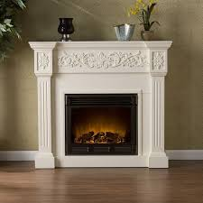 downing electric fireplace white