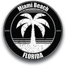 Amazon Com Jb Print Magnet Miami Beach Florida Vinyl Vacation Explore Memory Souvenir Vinyl Decal Sticker Car Waterproof Car Decal Magnetic Bumper Sticker 5 Kitchen Dining