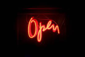 Cursive Open Neon Sign Wallpaper 66624 3867x2578px
