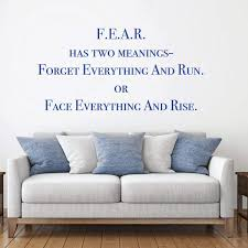 Amazon Com Fear Vinyl Decal Life Quote Wall Decor For Living Room Bedroom At Home Or Office School Classroom Large Small Sizes Black Red Gray Blue Other Colors Handmade
